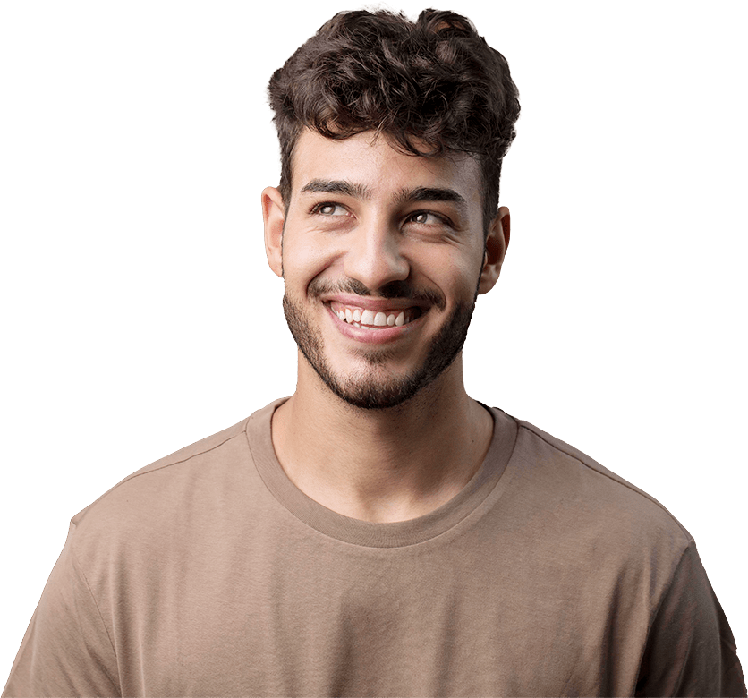 A happy young man who got the erectile dysfunction treatment in Oakwood Health Network Clinic